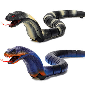 cheap Building Blocks-Gags & Practical Joke Gag toys Rattlesnake Toy Snake Animal Cobra Rechargeable Remote Control / RC Halloween ABS Kid's Toy Gift