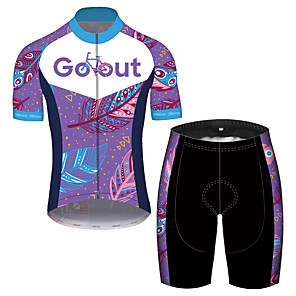 cheap Cycling Jersey & Shorts / Pants Sets-21Grams Men's Short Sleeve Cycling Jersey with Shorts Spandex Polyester Red+Blue Purple Oktoberfest Beer Bike Clothing Suit UV Resistant Breathable Quick Dry Sweat-wicking Sports Oktoberfest Beer