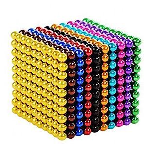billige Magnetiske leker-1000 pcs Magnetiske leker Magnetisk leke Magnetiske kuler Puzzle Cube Jul Nyttår Stress og angst relief Kreativ Teenager / Voksne Leketøy Gave