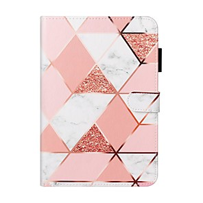 cheap iPad case-Case For Apple iPad 10.2 / iPad Mini 3/2/1 /Mini 4/5 Wallet / Card Holder / with Stand Full Body Cases Marble PU Leather For iPad Pro 9.7/New Air 10.5 2019/Air 2/2017/2018