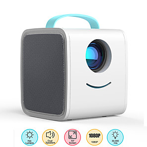 cheap Projectors-Q2 Mini Projector700 Lumens Portable Projector HDMI USB AV Port Mini LED Projector Home Theater Christmas Gift for Kids Children