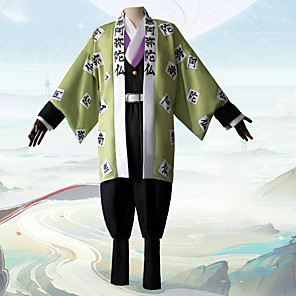cheap Anime Costumes-Inspired by Demon Slayer: Kimetsu no Yaiba Himejima Kyoumei Anime Cosplay Costumes Japanese Cosplay Suits Coat Top Pants For Men's / Necklace / Waist Belt / Bracelets
