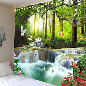 povoljno Zidne tapete-3d zidna umjetnost psihodelična tapiserija zid viseća mandala vodopad tapiserija cvjetni hipi višenamjenski tapiserija dnevni boravak