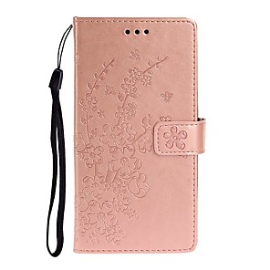 cheap iPhone Cases-Case For Huawei P40 Lite/P30 Pro/P Smart 2019/ Lite Wallet / Card Holder / with Stand Full Body Cases Solid Colored / Flower PU Leather For Huawei Nova 6/Nova 6SE/Nova 5/Mate 30 Lite