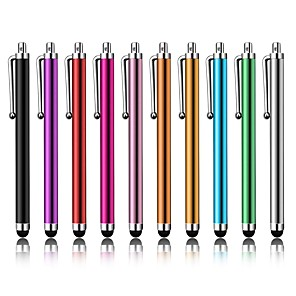 cheap Cell Phone Charms-10pcs Universal Capacitive Touch Screen Stylus Pen for Any phone Any pad Touch Suit for all Smart Phone Tablets PC