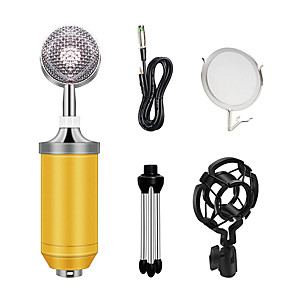 cheap Outdoor Speakers-BM-8000 Condenser Microphone Kit 3.5MM Recording Mic Chatting Singing Mikrafon With Tripod Microphone Sets