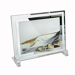 cheap Tabletop Picture Frames-3D quicksand painting hourglass ornaments home accessories creative glass crafts