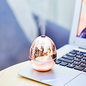 cheap Humidifiers-1pcs Aroma Diffuser Portable Mini Golden Egg-shaped USB Humidifier For Car Home Office Humidificadores Difusores Aromaterapia