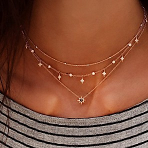 cheap Choker Necklaces-Women's Choker Necklace Chrome Gold 42 cm Necklace Jewelry 1pc For Daily
