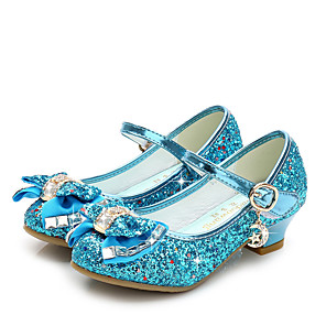 cheap Movie & TV Theme Costumes-Princess Elsa Shoes Girls' Movie Cosplay Sequins Golden / Black / Red Shoes Children's Day Masquerade