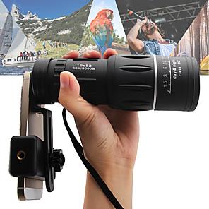 cheap Binoculars, Monoculars & Telescopes-16 X 52 mm Monocular with Holder &Tripod HD Night Vision in Low Light Portable 66/8000 m BAK4 Prism Lens Bird watching Camping / Hiking Hunting Fishing ABS+PC