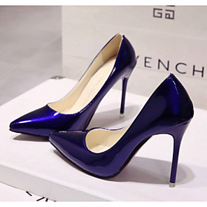 cheap Women's Heels-Women's Wedding Shoes Spring & Summer Stiletto Heel Pointed Toe Wedding PU Almond / White / Black