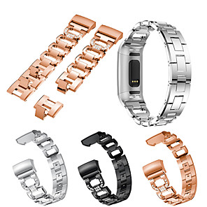 cheap Smartwatch Bands-Watch Band for Fitbit Charge 3 / Fitbit Charge 4 Fitbit Jewelry Design Stainless Steel Wrist Strap