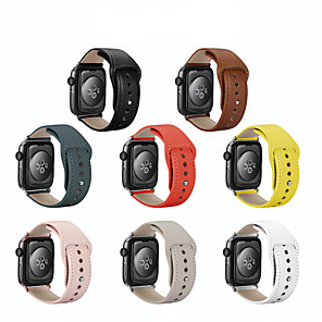 cheap Smartwatch Bands-Genuine Leather Strap For Apple Watch Series 5/4/3/2/1 Loop Watchband Bracelet Apple Watch Band 38mm 42mm 40mm 44mm Accessories