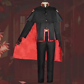cheap Anime Costumes-Inspired by Cosplay Anime Cosplay Costumes Japanese Cosplay Suits Blouse Top Pants For Men's / Cloak