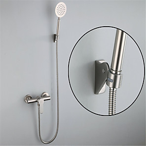 cheap Shower Faucets-304 Stainless Steel Simple Shower Shower Set Portable Cold And Hot Water Mixing Valve Shower Faucet