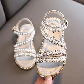 cheap Kids' Sandals-Girls' Comfort PVC Sandals Little Kids(4-7ys) Pink / Gold / Silver Summer