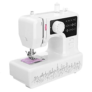 cheap Robots & Accessories-Multi-Functional Mini Sewing Machine for Electric Sewing Machine 1602 Home Small Desktop Take Overlock to Thick