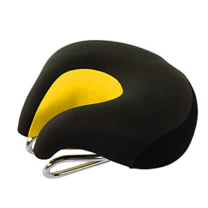 cheap Car Charger-Bike Saddle / Bike Seat Extra Wide / Extra Large Comfort Cushion PU Leather Silica Gel Cycling Road Bike Mountain Bike MTB Black Orange