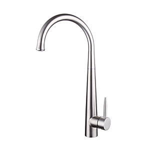 cheap Kitchen Faucets-304 stainless steel kitchen hot and cold faucet lead-free drawable rotatable sink faucet