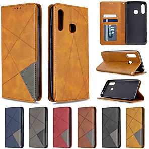 cheap Samsung Case-Case For Samsung Galaxy S20 / Galaxy S20 Plus / Galaxy S20 Ultra Wallet / Card Holder / with Stand Dark Magnetic Diamond PU Leather / TPU for Galaxy A51 / A71 / A70E / A41 / A11 / A01 / A21