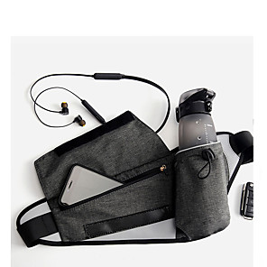 cheap Running Bags-Running Belt Fanny Pack Belt Pouch / Belt Bag 1 L for Running Hiking Outdoor Exercise Traveling Sports Bag Adjustable Waterproof Portable with Water Bottle Holder Bonded Men's Women's Running Bag