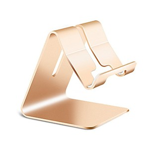 cheap Phone Mounts & Holders-Aluminum Desktop Holder Table Stand Cradle Mount For Cell Phone Tablet for IPhone 7 8 X for Samsung for Xiaomi Smartphone