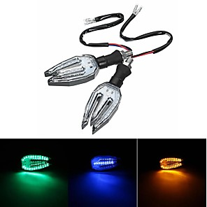 cheap Motorcycle Lighting-Universal 12V LED Motorcycle/Motorbike Turn Signal Indicators Blinker Lights Lamp Bulb 5colors