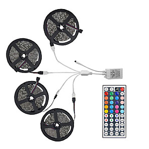 cheap Eyeshadows-20m Light Sets LED Light Strips RGB Tiktok Lights 600 LEDs 5050 SMD 10mm Remote Control / RC / Cuttable / Dimmable / Linkable / Suitable for Vehicles / Self-adhesive / Color-Changing / IP44