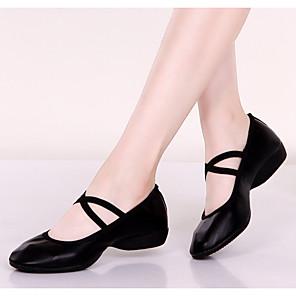 cheap Latin Shoes-Women's Dance Shoes Dance Sneakers Flat Flat Heel Black / Red / Fuchsia