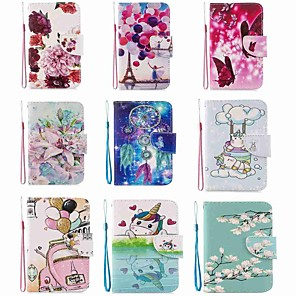 cheap Samsung Case-Case For Samsung Galaxy S20 / Galaxy S20 Plus / Galaxy S20 Ultra Wallet / Card Holder / with Stand Two Butterflies PU Leather / TPU for Galaxy A51 / A71 / A70 / A50 / A30S / A20 / A20E