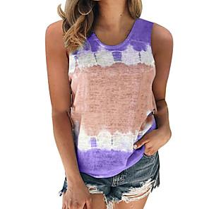 cheap Latin Dancewear-Summer Tie Dye Cotton Tank Top