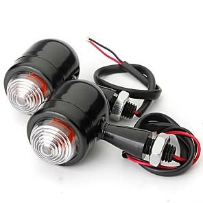 cheap Motorcycle Lighting-4pcs Black Clear Lens Mini Bullet Bulb Turn Signal Black Front Rear Light For Harley
