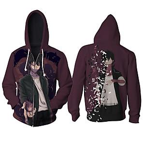 cheap Everyday Cosplay Anime Hoodies & T-Shirts-Inspired by My Hero Academia Boko No Hero Cosplay Costume Hoodie Polyster Print Printing Hoodie For Men's / Women's