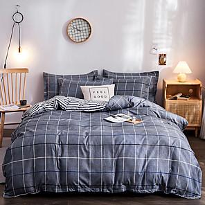 cheap Solid Duvet Covers-Classic bedding set 4 size geometric printing summer bed linen 4pcs/set duvet cover set Pastoral bed sheet AB side duvet cove