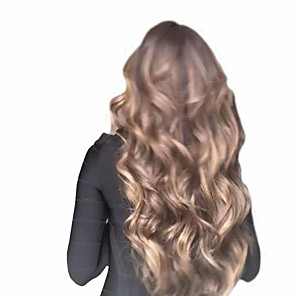 cheap Synthetic Trendy Wigs-Synthetic Wig Matte Body Wave Middle Part Wig Very Long sepia Synthetic Hair 26 inch Women's Sexy Lady curling Waterfall Brown