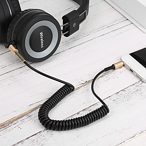cheap USB Hubs & Switches-3.5MM Audio Cable Male-Male AUX Cable Headphone Beats Earphone Speaker Phone Car Stereo AUX Cord Spring Audio Cable Z2