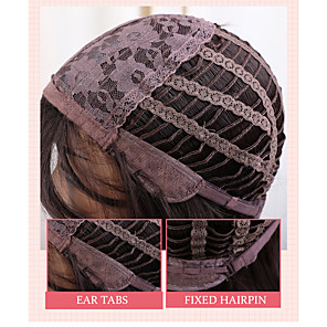 cheap Synthetic Lace Wigs-Synthetic Wig Bangs Natural Straight Side Part With Bangs Wig Blonde Long Light Blonde Synthetic Hair 20 inch Women's Cosplay Women Synthetic Blonde HAIR CUBE / Ombre Hair