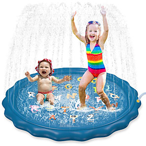 cheap Inflatable Ride-ons & Pool Floats-Splash Pad Sprinkler for Kids Inflatable Pool Pool Hammock Kiddie Baby Pool Swimming Pool Outdoor Portable PVC Summer Pool 1 pcs 67inch / 170cm Kids