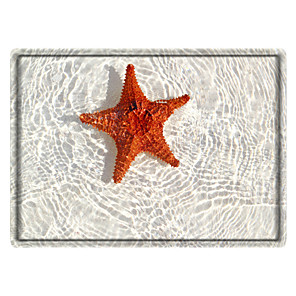 cheap Rugs-Starfish Print High Quality Memory Foam Bathroom Carpet and Door Mat Non-slip Absorbent Super Comfortable Flannel Bathroom Carpet Bed Rug