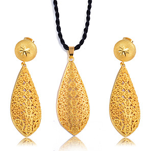 cheap Jewelry Sets-Women's Jewelry Set Classic Tassel Trendy Ethnic Fashion Gold Plated Earrings Jewelry Gold For Christmas Wedding Gift Street Festival 1 set