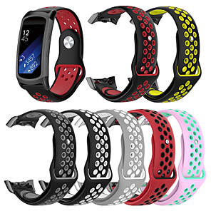 cheap Smartwatch Bands-Double Color Silicone Strap for Samsung Gear Fit 2 Pro / Fit 2 Sport Band Replacement Bracelet Watch Band for Samsung Gear Fit 2 Pro / Fit 2