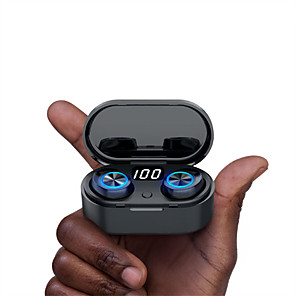 cheap TWS True Wireless Headphones-TW80 TWS True Wireless Earbuds Bluetooth 5.0 Stereo with LED Power Display for Sport Fitness