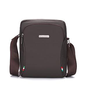 cheap Men's Bags-Men's Zipper Nylon Crossbody Bag 2020 Solid Color Black / Blue / Gray