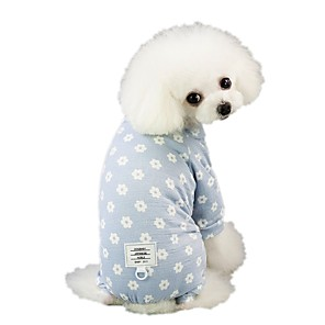 cheap Dog Clothes-Dog Jumpsuit Pajamas Pants Dog Clothes Pink Blue Costume Husky Labrador Alaskan Malamute Cotton Flower Casual / Daily S M L XL XXL