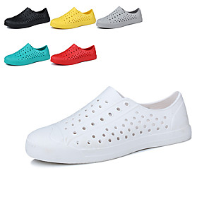 cheap Women's Sandals-Unisex Sandals Flat Sandal 2020 Summer Flat Heel Round Toe Casual Minimalism Daily Beach EVA(ethylene-vinyl acetate copolymer) Water Shoes / Upstream Shoes White / Black / Yellow