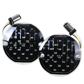 cheap Motorcycle Lighting-12V LED Motorcycle Turn Signal Lights Lamp 1157 For Harley Flstc Flhtc Flstn Flhtk Flht Fltr Flhr Flhrc