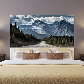 cheap Wall Stickers-Highway Snow Mountain Living Room Tv Background Wall Stickers Bedroom Bedside Art Decoration Art Ornament Wallpaper Sticker 1 set 2pcs