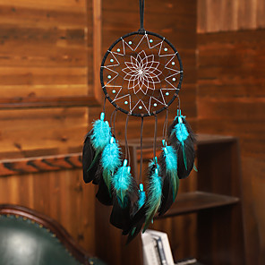 cheap Oil Paintings-Dream Catcher Handmade Feather Bead Party Festival Hanging Decoration Ornament Gift Home Room Girl DIY Crafts Accessories