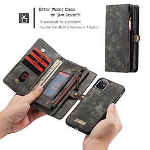 voordelige iPhone-hoesjes-Caseme luxe zakelijke lederen magnetische flip case voor iPhone SE2020 / 11 Pro Max / 11 Pro / 11 / XS Max / XR / XS / X / 8 Plus / 7 Plus / 6 Plus / 8/7/6 portemonnee kaartsleuf afneembare hoes